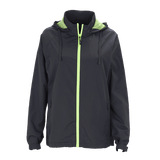 Vansport Ladies Packable Club Jacket-Dark Grey/Citron