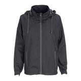 Vansport Ladies Packable Club Jacket-Dark Grey/Grey