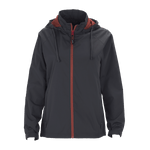 Vansport Ladies Packable Club Jacket-Dark Grey/Sport Red