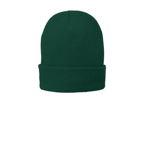 Fleece Lined Beanie Cap-Athletic Green