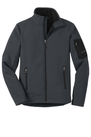 Eddie Bauer Men's Rugged Ripstop Softshell-Grey Steel Black