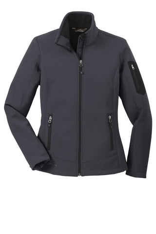 Eddie Bauer Ladies Rugged Ripstop Softshell-Grey Steel Black