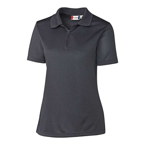 Clique Ladies Malmo Snag-Proof Zip Polo-Titan Grey