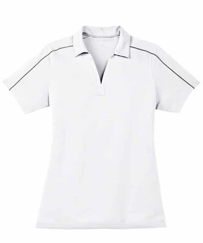 Ladies Sport-Tek Micropique Polo-White/Iron Grey