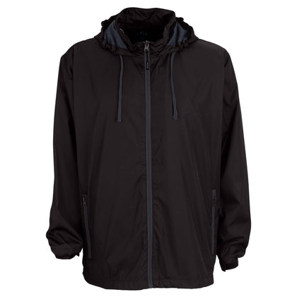 Vansport Men's Packable Club Jacket - Black/Dark Grey