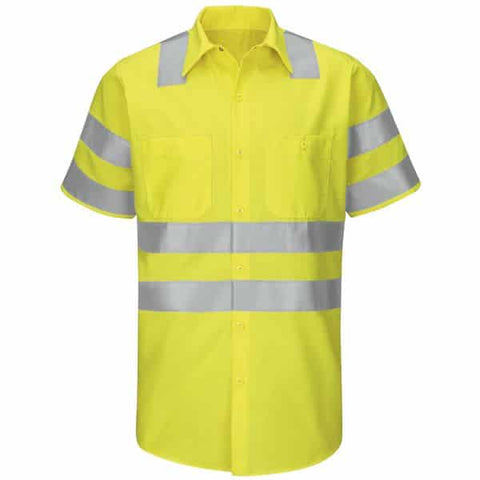 Red Kap Type R Class 3 Ripstop Workshirt-Safety Yellow