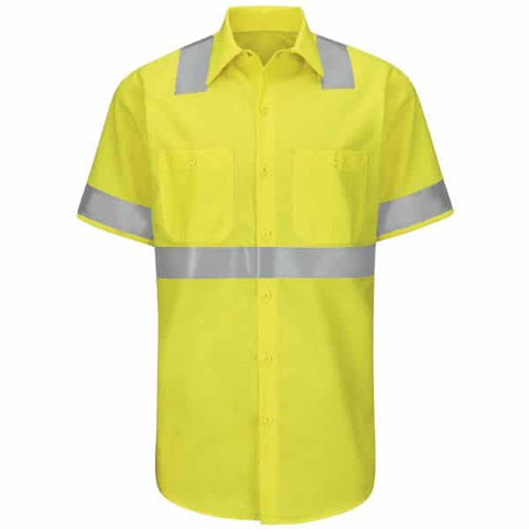 Red Kap Type R Class 2 Ripstop Workshirt-Safety Yellow
