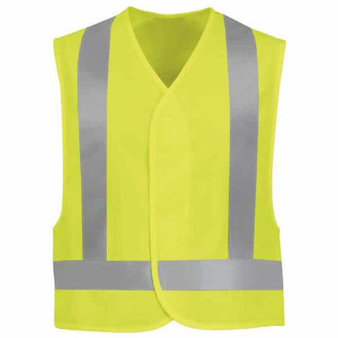 Red Kap Type R Class 2 Safety Vest-Safety Yellow