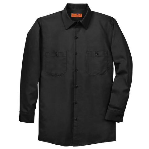 Red Kap Long Sleeve Industrial Work Shirt - Blank