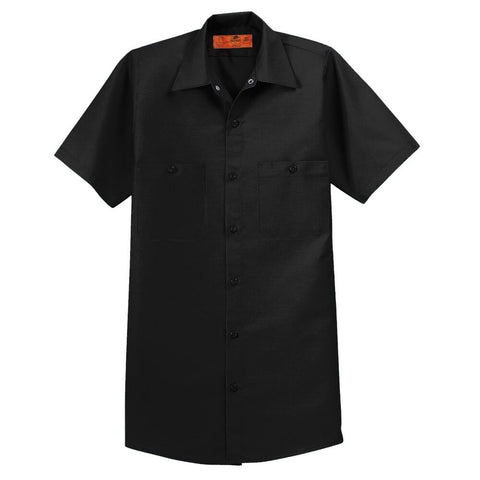 Red Kap Short Sleeve Industrial Work Shirt - Decorated