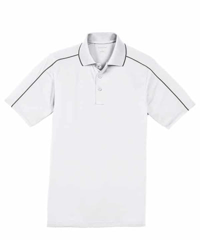 Men's Sport-Tek Micropique Polo-White/Iron Grey