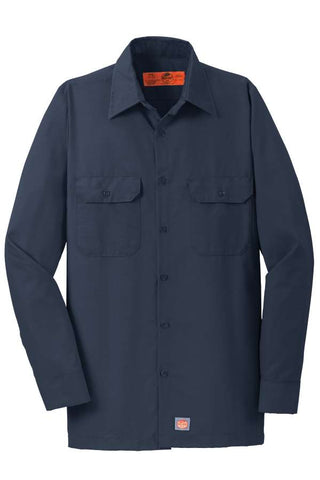 Red Kap Men's Long Sleeve Ripstop Shirt-Navy