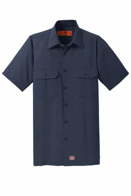 Red Kap Short Sleeve Ripstop Shirt-Navy