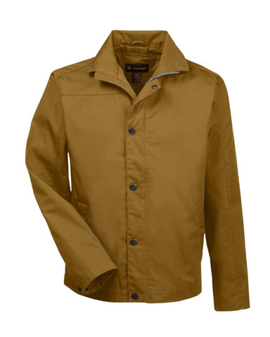 Harrinton Men's Auxiliary Canvas Soft Shell Jacket-Duck Brown