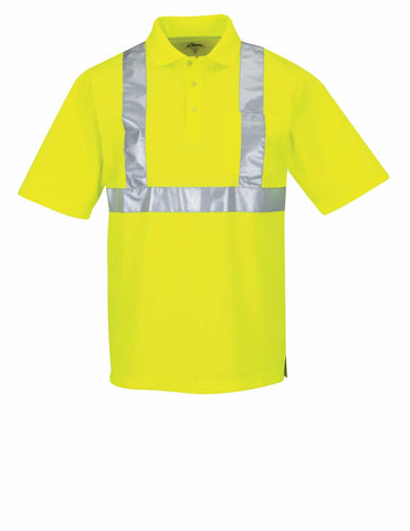 Boundary High-Vis Polo Shirt-Safety Yellow
