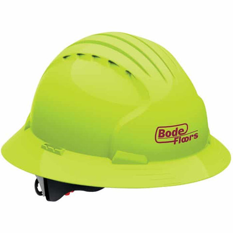 Evolution 6161 Full Brim Hard Hat-Safety Yellow