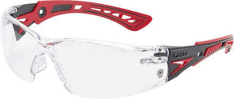 Bolle Rush Plus Temple RED Lens Clear - Clear