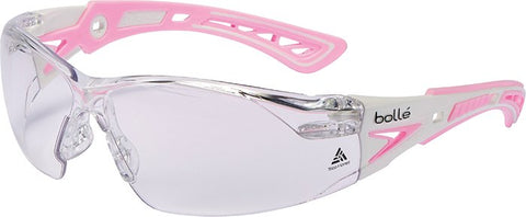 Bolle Rush Plus Temple Pink Lens Clr-Sml - Clear