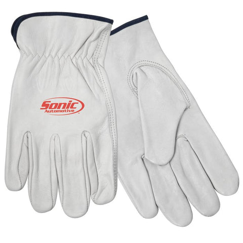 Cow Grain Driver's Glove - Beige