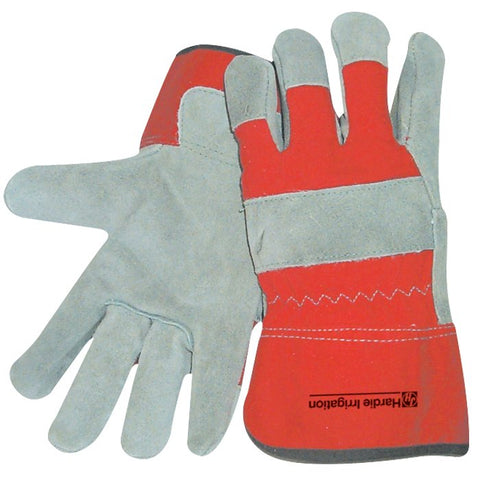 Insulated Cowhide Glove - Red