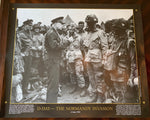 Dwight D. Eisenhower speaks to U.S. Paratroopers before D-Day - Poster