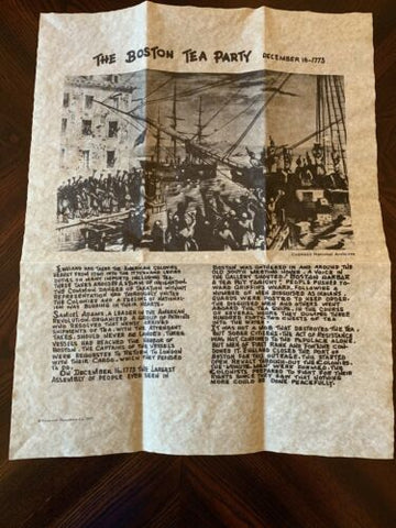 Boston Tea Party Parchment replica