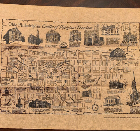 Olde Philadelphia: Historic Church Map