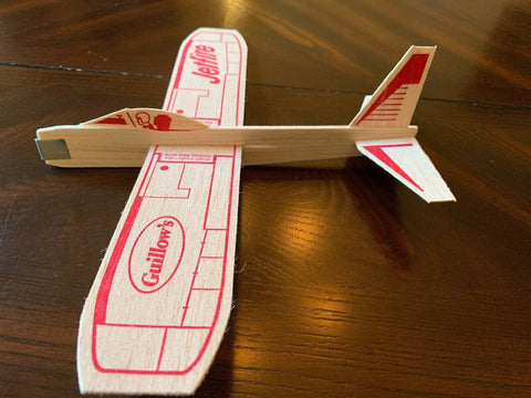 JetFire Balsa Wood Glider Plane Twin Pack Old Fashioned Wooden Toys