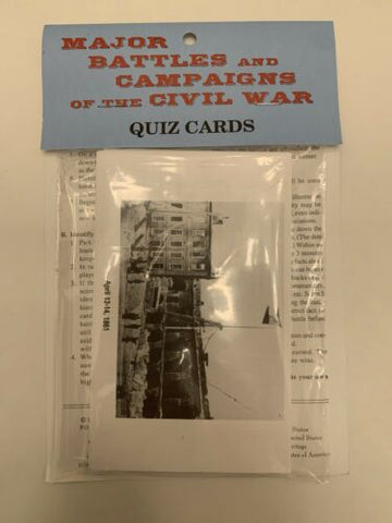 Vintage Major Battles and Campaigns of the Civil War 40 history quiz cards new