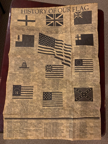 History of Our Flag Parchment