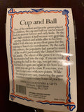 Wooden Cup and Ball Toss Toy w/string - 10.75""