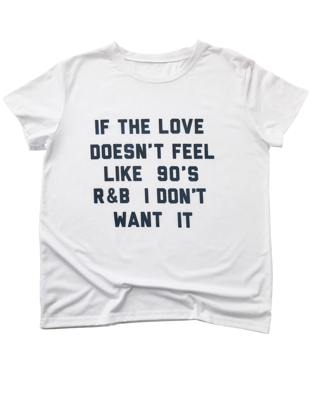 90's Love Shirt in White - Trunk Series, LLC