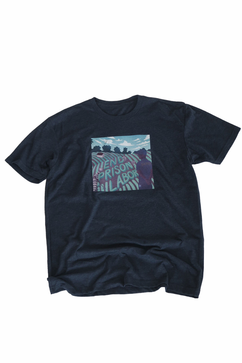 End Prison Labor Illustration Shirt in Navy - Trunk Series, LLC