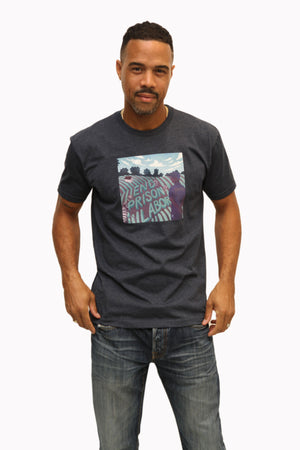 End Prison Labor Illustration Shirt in Navy - Trunk Series
