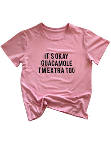 Extra Guac Shirt in Pink - Trunk Series, LLC
