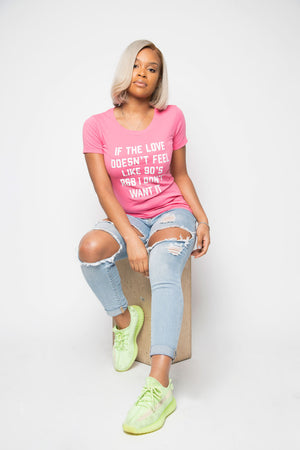 90's Love Shirt in Pink - Trunk Series
