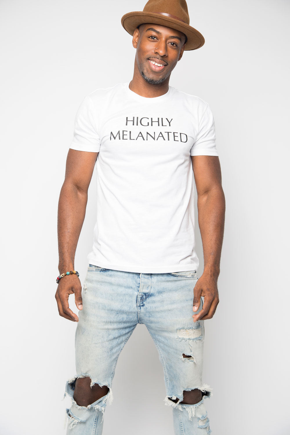Highly Melanated Shirt in White - Trunk Series, LLC