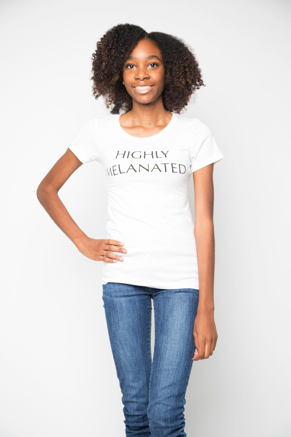 Highly Melanated Shirt in White - Trunk Series