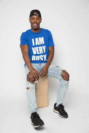 I Am Very Busy Tee in Blue - Trunk Series, LLC