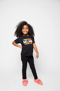 Melanin Kids Shirt in Black - Trunk Series