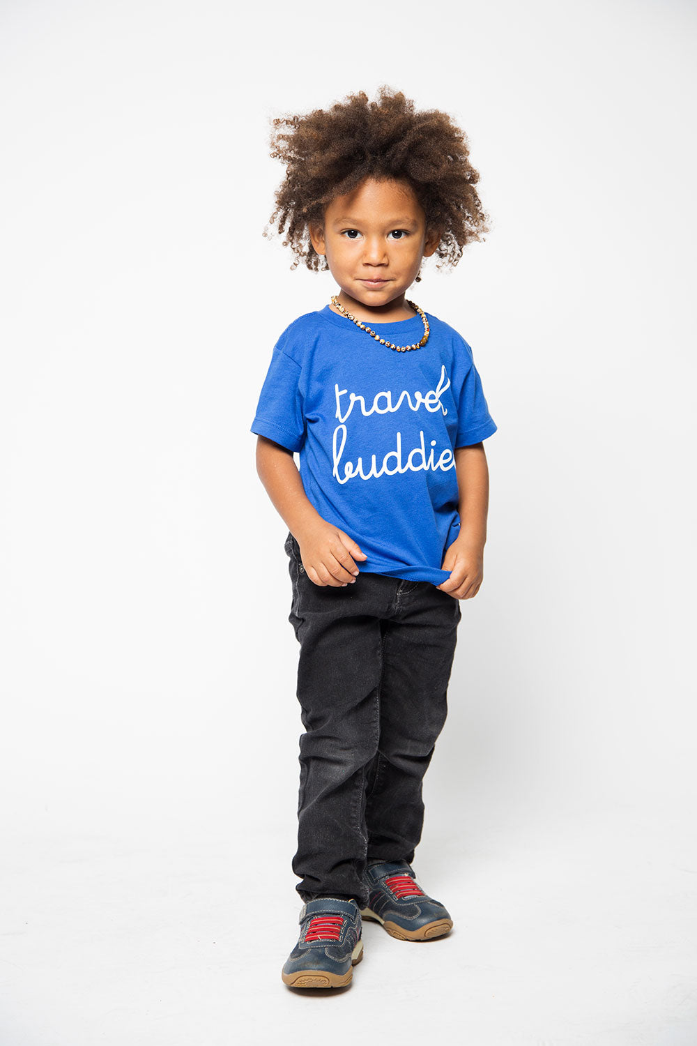 Travel Buddies Kids Shirt in Blue - Trunk Series