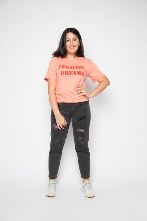 Legalize Dreams Tee in Light Orange