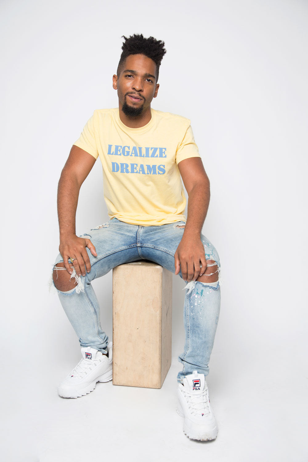 Legalize Dreams Shirt in Banana Cream - Trunk Series