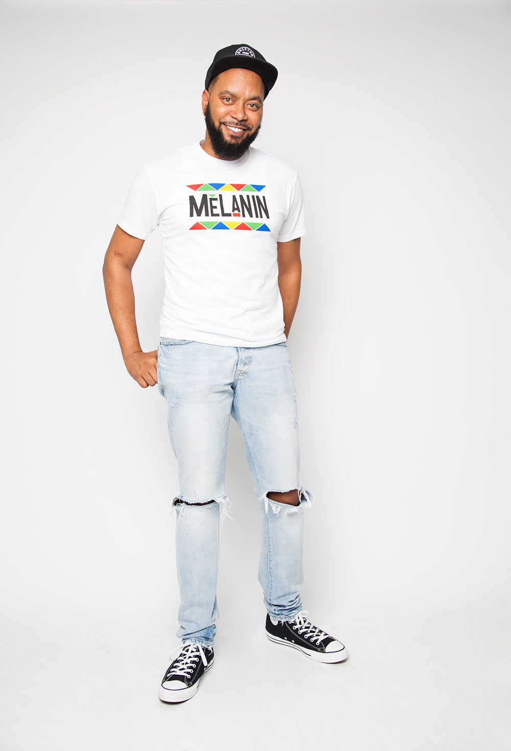 Melanin Shirt in White - Trunk Series, LLC