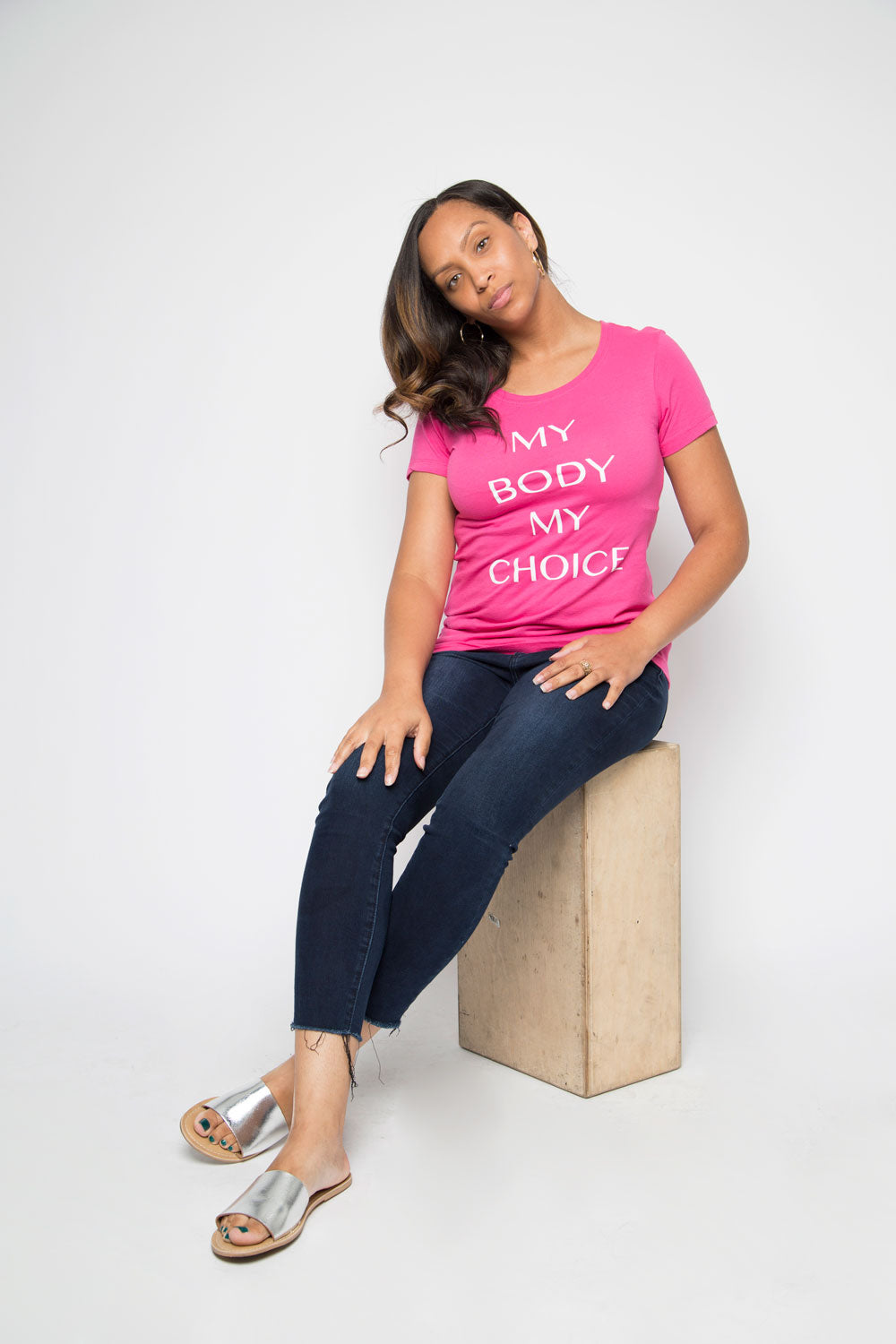 My Body My Choice Shirt in Pink - Trunk Series, LLC