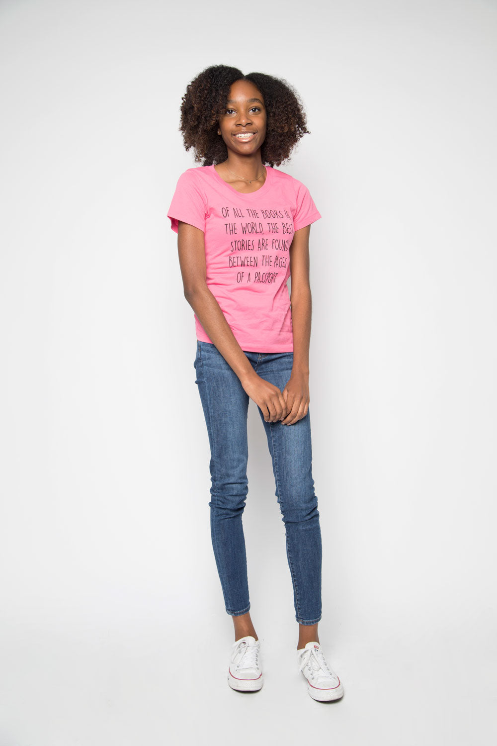 Passport Shirt in Hot Pink - Trunk Series, LLC
