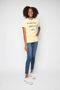 Purpose Driven Life Shirt in Yellow - Trunk Series, LLC