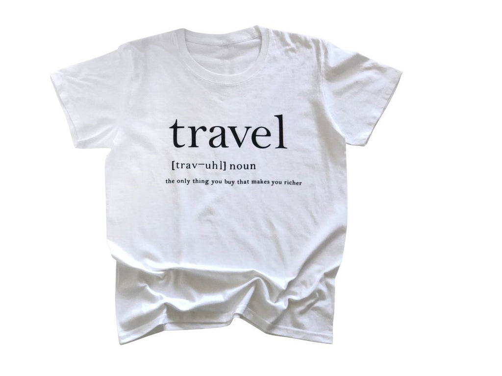 Travel Definition Shirt in White - Trunk Series, LLC