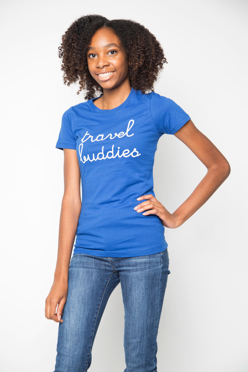Travel Buddies Shirt in Blue - Trunk Series