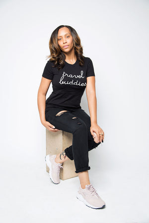 Travel Buddies Shirt in Black - Trunk Series, LLC